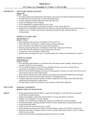 Inside Sales Rep Resume Samples Velvet Jobs