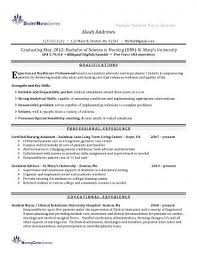 Nursing Resume Samples For New Graduates From New Graduate Nurse ...