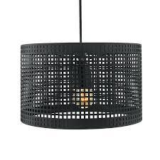 metal lamp shade hanging metal lamp shade with cube pattern matt black pendant light metal pendant