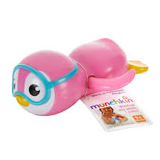 Munchkin Wind Up Swimming Penguin Bath Toy, Pink : Toys & Games ...