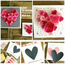 Stunning apartment valentines decorations ideas Crafts Easy Minute Valentines Wall Art Day Printable Valentines Day These Valentine Decorations Are So Easy Use Fabric And Mod To Create