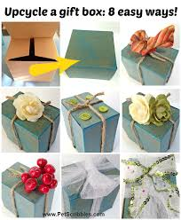 Ideas To Decorate A Box Decorate a gift box 100 easy ideas Pet Scribbles 2