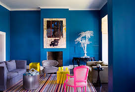 And neon pink is equally fetching when set against the background of deep  gray wallpaper with rosy accents. Muted artwork gives the space a layered,  ...
