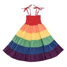 Ywoow Kids Clothes <b>Women's</b> Dresses <b>Rainbow Striped</b> Patchwork ...