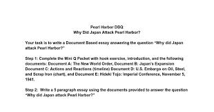 pearl harbor dbq google docs