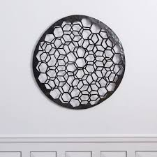 round geometrical metal recycled black wall art art exhibition black metal wall decor