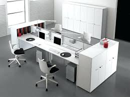 contemporary office desk glass. Excellent Modern Office Desk With Long White Computer Table And Tiny Near Document Cabinets Decorating Glass Chrome Contemporary S