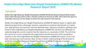 Global Ultra High Molecular Weight Polyethylene Uhmw Pe