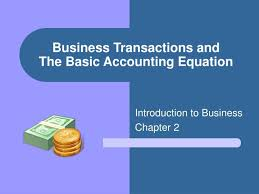 business transactions and the basic accounting equation
