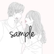カップルイラスト描きます 幸せな瞬間をオシャレなイラストに仕上げます