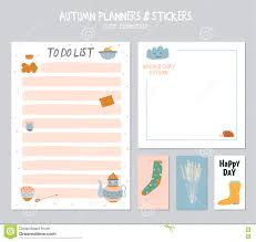 Cute Contact List Template Cute Daily Calendar And To Do List Template Stock Vector