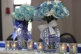 blue and silver centerpiece | Royal Blue and Silver Wedding .