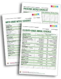 Small Picture Timberdoodle Schedule customizable Generates weekly printable