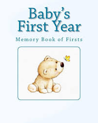 Babys First Year Memory Book Of Firsts Paperback