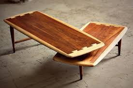 mid century modern lane acclaim swivel boomerang coffee table