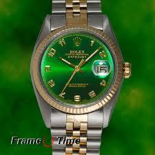 rolex datejust mens gold amp steel ss tt green arabic jubilee rolex datejust mens gold steel ss tt green arabic jubilee date watch