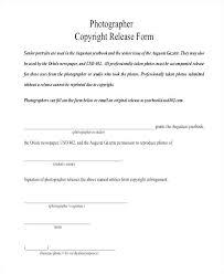 Copyright Release Form Logo Photography Pdf Photo