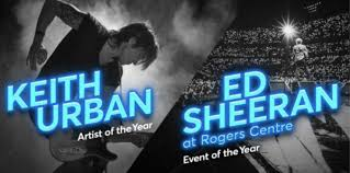 Rogers Centre Seating Chart Ed Sheeran Your Votes Are In Fans Crown The 2018 Ticket Of The Year