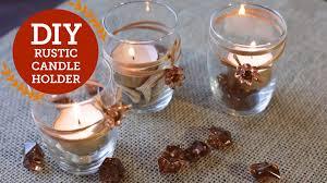 Diy Candle Holders Rustic Candle Holder Diy Decorations Balsacirclecom Youtube