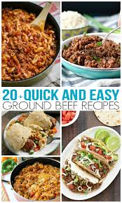 easy dinner recipes with ground beef. Plain Beef Over 20 Quick And Easy Ground Beef Recipes  Family Fresh Meals Intended Dinner With
