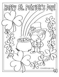Small Picture St Patricks Day Printable Coloring Activity Sheets Coloring