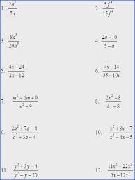 Simplify Rational Expressions Worksheet Pdf