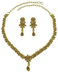 matra ethnic indian traditional gold tone cz women necklace earring set bridal jewellery you can find out more dels at the link of the image