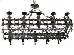 iron rectangular chandelier antique vintage old french iron rectangular chandelier