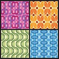 Colorful Patterns Impressive Four Retro Style Colorful Patterns Royalty Free Cliparts Vectors