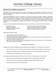 Annotated Bibliography Template Apa Awesome Sample College