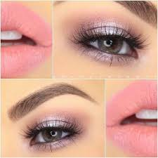 gorgeous soft pink and lavender look with makeup geek eye shadows and noyah cosmetics lipstick