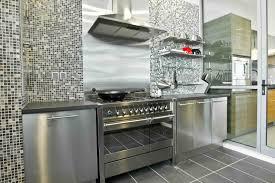 Stainless Steel Kitchen Designs Minimalist Kitchen Design With Floating Stainless Steel Kitchen