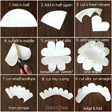 How To Make A Flower Out Of Paper Step By Step How To Create A Flower From A Paper Plate Parties For Pennies