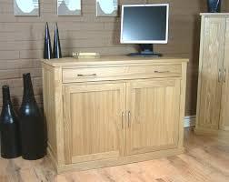 atlas chunky oak hidden home. Mobel Oak Computer Desk Sideboard In Solid With Concealed Workstation. Atlas Chunky Hidden Home