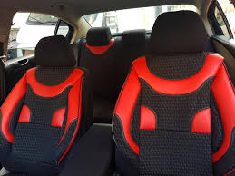 car seat covers protectors renault clio iv grandtour black red no17 complete