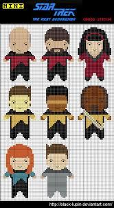Star Trek: TNG Cross Stitch Charts. Face it, @Sara Sacson you always
