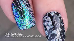 SHELLAC™ Nail Art - Stamp FIRST, THEN apply Lecenté™ Glitter ...