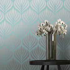 Teal Bedroom Wallpaper I Love Wallpaper Shimmer Desire Wallpaper Teal Silver 50041