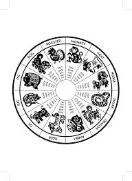 2018 Zodiac Chart Zodiac Chart Eastern Western 2018 On Behance