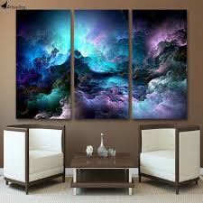 artsailing wall painting hd printed 3 piece canvas art abstract psychedelic art space cloud painting wall on wall art pieces with artsailing wall painting hd printed 3 piece canvas art abstract