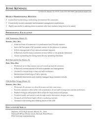 Barback Resume Sample Hostess Resume Skills Resume Examples Training