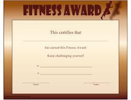 Sample Certificate Award Fitness Award Certificate Template Download Printable Pdf
