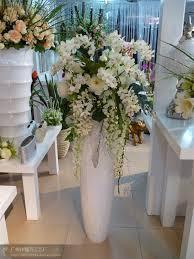SJH031815 big flower vases gold flower pots handmade flower pot