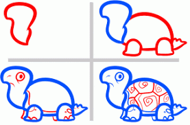 Small Picture How to draw how to draw turtles for kids Hellokidscom