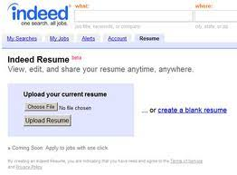 ... 1. Indeed Resume ...