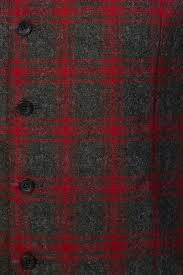 mens charcoal red plaid wool winter vest