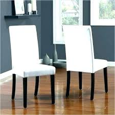 cream faux leather parsons chairs dining room white 6