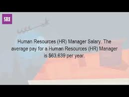 How Much Money Do Human Resource Managers Make In Canada Youtube
