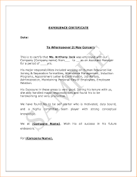 Employment Certificate Sample For Accountant Copy 6 Certificate Of