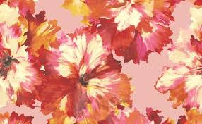 Red Flower Wallpaper Red Floral Print Wallpaper Modern Floral Print Wallpaper Burke